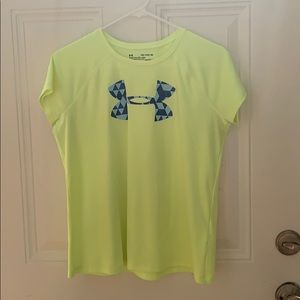 kids loose under armour yellow and blue shirt